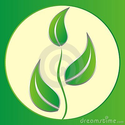 Logo green leaves