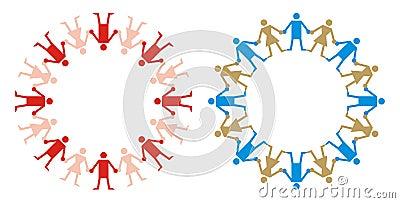 Logo - Human Chain Style