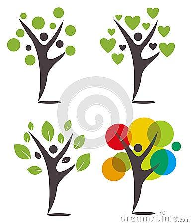 Logo Humanoid trees