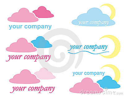 LOGO ICON  with clouds