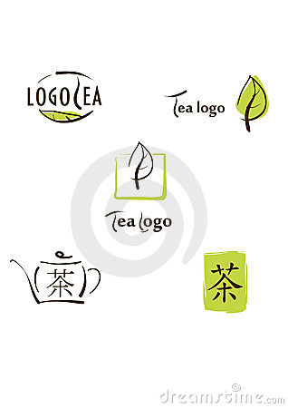 Logo, icon and hieroglyph illustration for tea bra