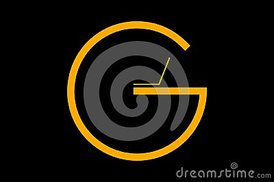 Letter G as a logo in black background Vector Illustration