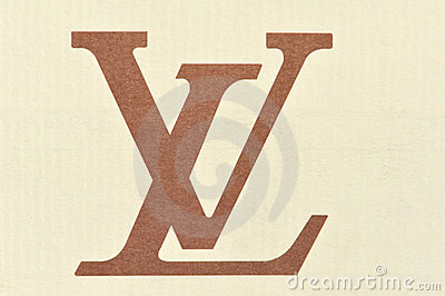 Logo Louis Vuitton Cardboard Editorial Photography Image