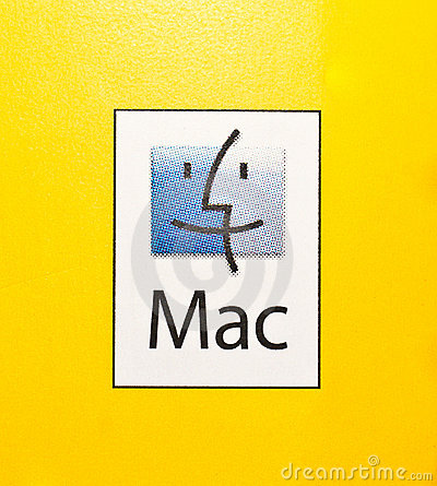 Logo of Mac PCs and Mac Operating System. Editorial Stock Photo