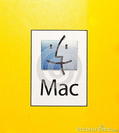 Logo of Mac PCs and Mac Operating System. Editorial Stock Photo