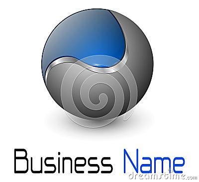 Logo metallic sphere