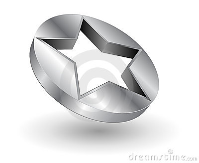 Logo metallic star