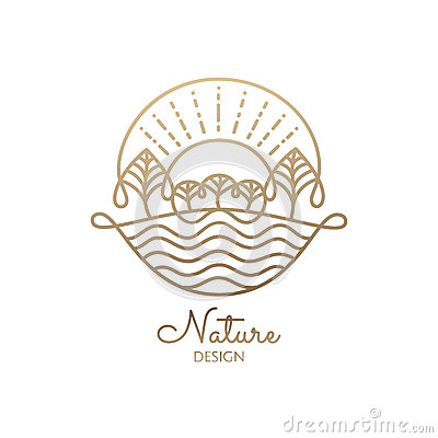 Logo nature Vector Illustration