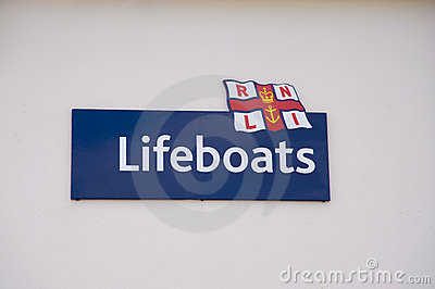 Logo of the RNLI Editorial Image