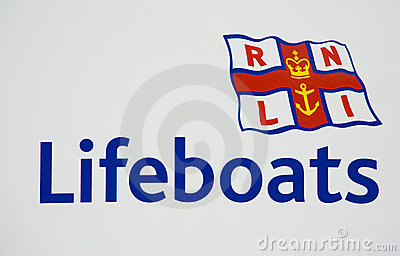 Logo of the RNLI Editorial Stock Image