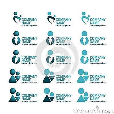 Mother & Child Logo Set Icon