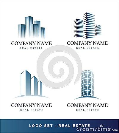 Logo  set Real Estate concept
