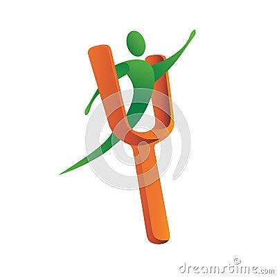 Logo slingshot man