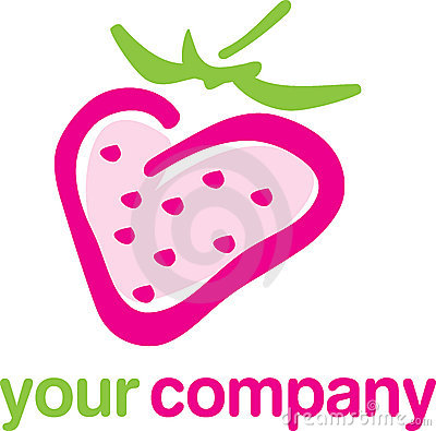 Logo strawberry fruit
