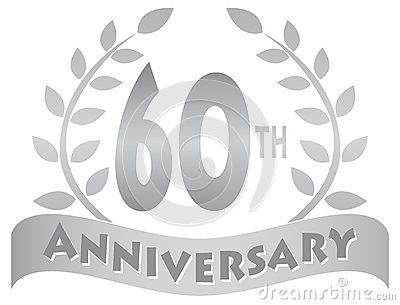 Sixtieth Anniversary Banner/eps