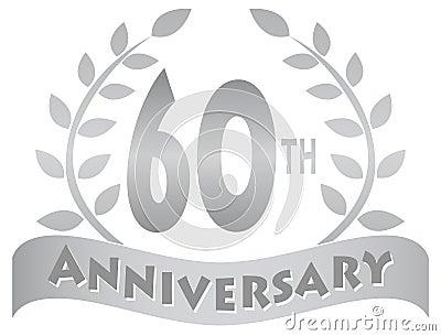 Sixtieth Anniversary Banner/eps