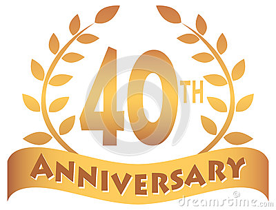 Fortieth Anniversary Banner/eps