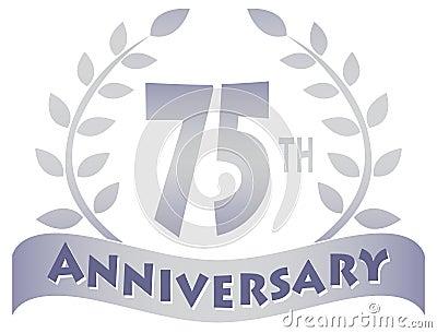 Seventy-Fifth Anniversary Banner/eps
