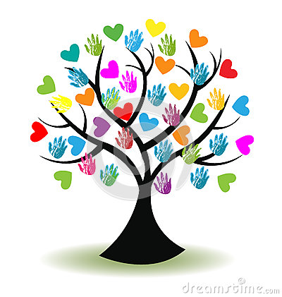 Free Logo Tree Hands And Hearts Royalty Free Stock Photos - 60957918