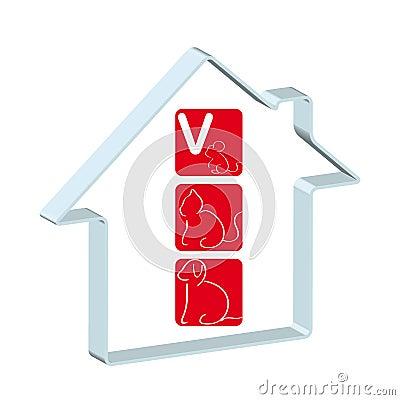 Logo for veterinary hospital