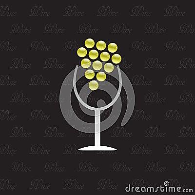 Logo Wine House on black background