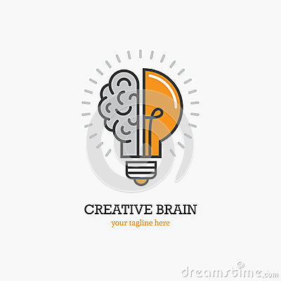 Free Logo With A Half Of Light Bulb And Brain Stock Images - 94248704