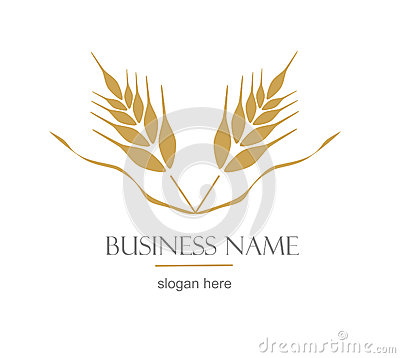 Free Logo With Ear Of Wheat. Royalty Free Stock Image - 42277946