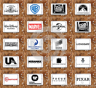 Free Logos And Vector Of Top Famous Film Studios And Production Cinematography Companies Royalty Free Stock Image - 65570626