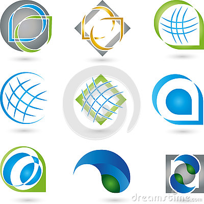 Free Logos, Collection, Services, IT Royalty Free Stock Photos - 76455408