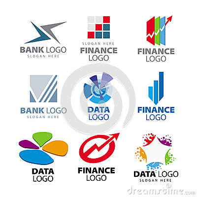 Free Logos For Banks And Finance Companies Stock Photography - 30784322