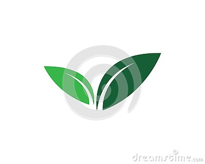 Logos of green Tree leaf ecology Vector Illustration
