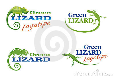 Logos with a lizard and chameleon