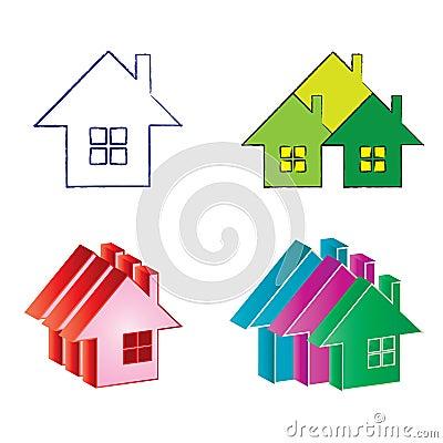 Logos real estate house