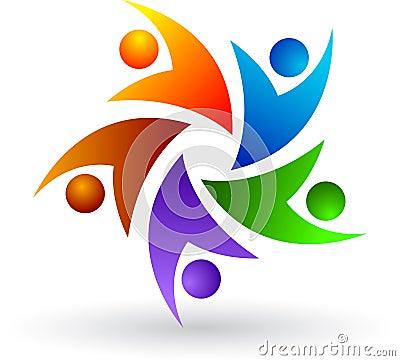 Logotipo colorido dos povos