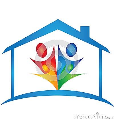 Logotipo da casa e da família