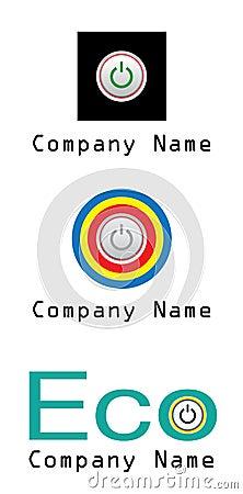 Logotipo da companhia da potência e da energia