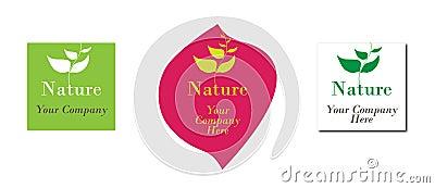 Logotipo da ecologia da natureza