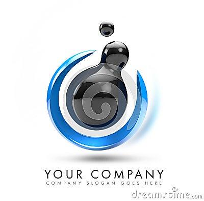 Logotipo da esfera 3D