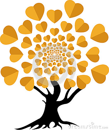 Logotipo da árvore de amor