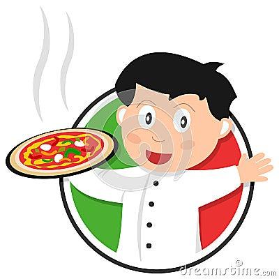 Logotipo do cozinheiro chefe da pizza