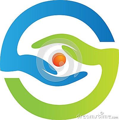 Logotipo do cuidado do olho