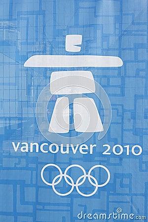 Logotipo olímpico de Vancôver Imagem Editorial