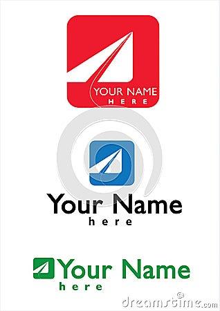 Logotipo para o negócio do correio, do curso e do Aviaton