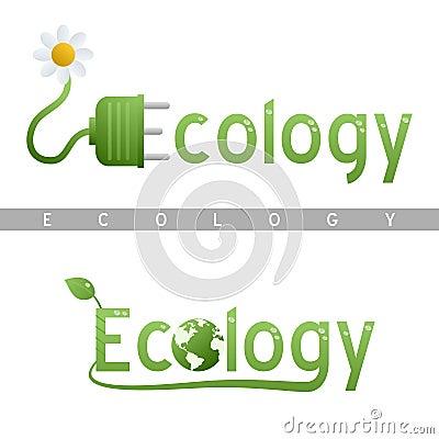 Logotipos do título da ecologia