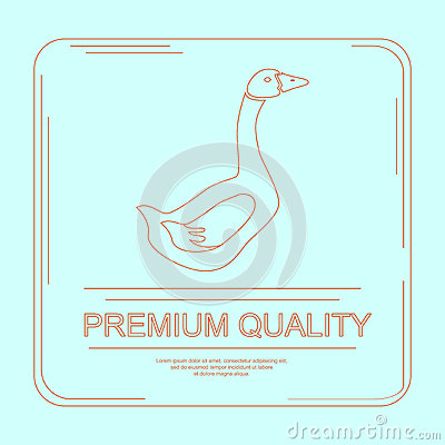Free Logotype Of Goose Farm Or Product Stock Image - 73868361