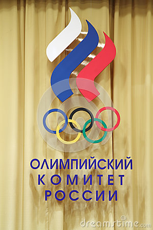 Logotype of Russian Olympic Committee Editorial Image