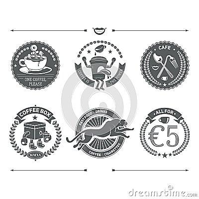 Logotypes set and Retro Vintage Insignias. Vector design element Vector Illustration