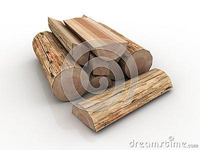 Logs, fire wood pile