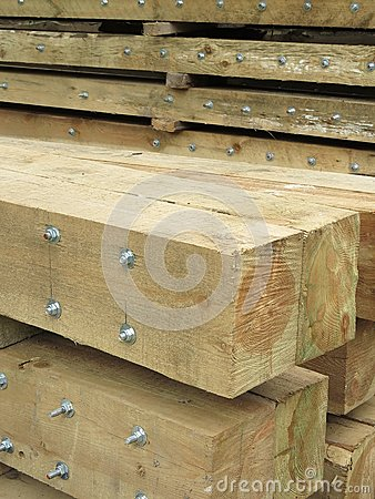 Logs with screws