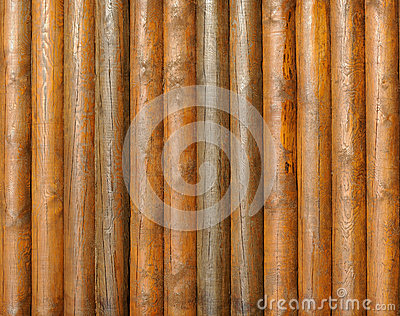 Logs wood wall